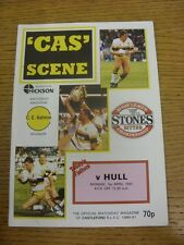 01/04/1991 Rugby League Programme: Castleford v Hull  . Condition: We aspire to