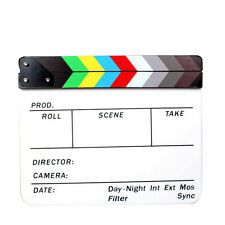 Director Movie Video Slate Clapboard Film Slate Color Clap Stick Clapper Board