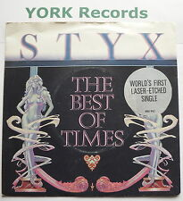 "STYX - Best Of Times *LASER ETCHED* - Excellent Condition 7"" Single A&M AMS 8102"
