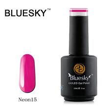 N15 Bluesky Soak Off UV LED Gel Nail Polish NEON BERRY Magenta Dark Pink