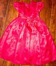GIRLS Bonnie Jean Holiday DRESS Size 5 Valentines Christmas Red Bow