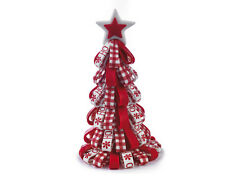 RED & WHITE CHRISTMAS TREE DECORATION - AN ATTRACTIVE TABLE CENTREPIECE - NEW