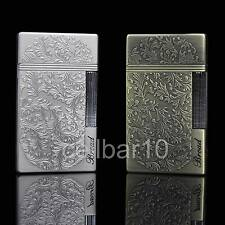 Unique Carved Design W/Bright Sound Cigarette Cigar Wheel Gas Butane Lighter