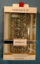 New in Box Case-Mate iPhone 6/6S Sterling Silver Flake Clear Silver Smoke Case
