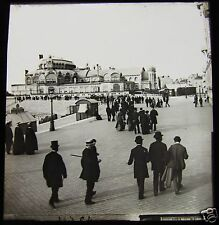 Glass Magic Lantern Slide THE KURSAAL OSTEND C1910 BELGIUM