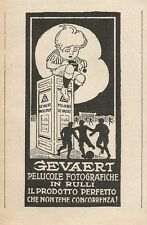 Z2381 Pellicole fotografiche GEVAERT - Pubblicità 1928 - Vintage advertising