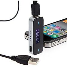 Wireless 3.5mm In-car FM Transmitter for iPhone 5 6 6S Samsung Galaxy S4 S5 S6