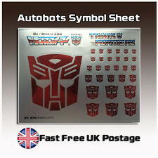 Transformers G1 AUTOBOT INSIGNIA Simbolo Argento Sticker Decal 4 Custom