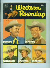 WESTERN ROUNDUP (1952) 1  DELL GIANT COMICS GENE AUTRY ROY ROGERS REX ALLEN