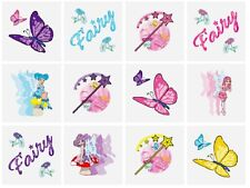 12 x Childrens GIRLS Fairy Fairies Temporary Tattoos Transfers Toys N51 034