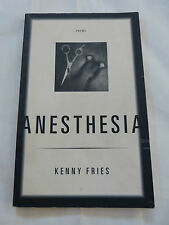 RARE - Anesthesia, poems by Kenny Fries, 1996 Softcover, VGC, First Edition