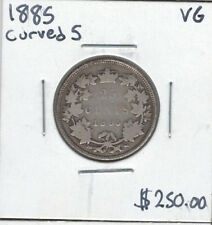 Canada 1885 Silver 25 Cents Curved 5 VG
