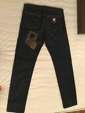 Louis Vuitton Mens Jeans Denim Dark blue With Lv Logo Size 30 USA 40 FR SL