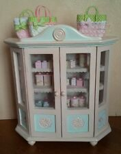 Handpainted oversized dollhouse display cabinet - OOAK