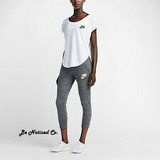 Nike Gym Vintage Women's Capris XS Gray Gym Casual Training Running New