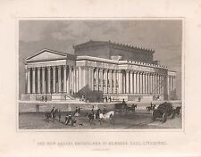 1845 ANTIQUE PRINT-DUGDALE- - LIVERPOOL - NEW ASSIZE COURTS, ST GEORGES HALL