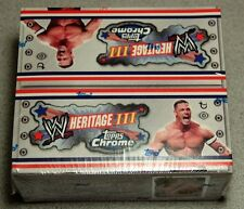 2008 TOPPS CHROME HERITAGE SERIES III WWE WRESTLING FACTORY SEALED HOBBY BOX