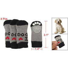 Winter Ribbed Hem Acrylic Shoes Wear Socks For Pet Dog LW