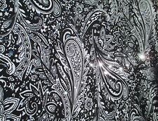 2 yards stretch spandex lycra fabric with silver sequin decoration