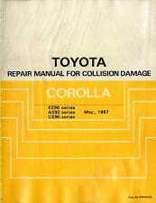 1987 TOYOTA COROLLA EE90/AE92/CE90 UNFALL REPARATUR ANLEITUNG COLLISION DAMAGE