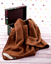 SALE! 100% Merino Wool Blanket King Size WOOL FLEECE BLANKET 200 x 200 cm BROWN