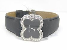 Pierre Cardin Ladies Petales Crystal Bracelet Watch PC104342F01 Leather Black