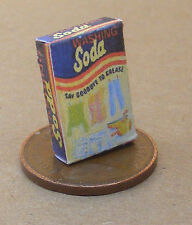 1:12 Scale Empty Washing Soda Packet Dolls House Miniature Kitchen Accessory Ad