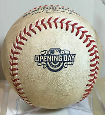 MATT DUFFY GAME-USED BASEBALL OPENING DAY AT-BAT 4/13/2015 SF GIANTS MLB ROOKIE