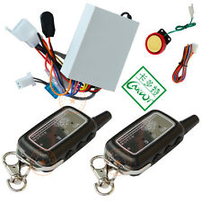 2 way motorcycle alarm LED alarm remote audible and vibration remote start stop