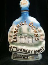 JIM BEAM WHISKEY DECANTER...CHURCHILL DOWNS 95TH KENTUCKY DERBY...HORSE RACING