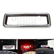"""Chrome""""Jeep Grille""""Illuminate 3rd Brake Light Cover for 07-16 Wrangler JK Jeep"""