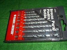 BLACK AND DECKER 8 PIECE A8105 MASONRY DRILL BIT SET