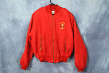 Vintage Red West Berlin Jacket Germany Cold War World War Nylon Bomber Jacket
