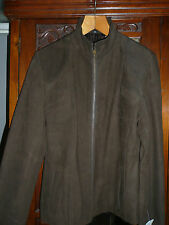 BNWT Genuine Leather Ladies Jacket in Brown/ Size 14