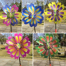 DIY Beautiful Butterfly Windmill Lawn Garden Yard Decor Pinwheel Wind Spinner
