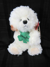 RUSS STUFFED PLUSH MUFFIN PUPPY DOG BICHON FRISE SHADES OF GREEN IRISH SHAMROCK