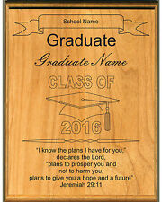 Personalized Graduation Plaque with School Name and Graduate's Name
