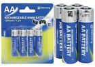 AA RECHARGEABLE Ni-MH 1300 MAH BATTERY BATTERIES X 4