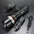 2000LM CREE XM-L T6 LED Rechargeable Flashlight Torch Lamp Light & Charger