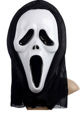 Ghost Scream Face Halloween Mask Costume Party Hood Horror Fancy Costume