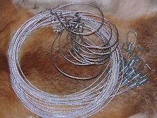 "1 dozen 60"" 3/32  Micro Lock Raccoon,fox,coyote,bobcat  Snares (1 Dz.) Trapping"