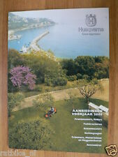 O118 BROCHURE HUSQVARNA RIDER GRASMAAIERS 2005 FOLDER DUTCH  12 PAGES