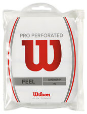 Wilson Pro Perforated Tennis Racquet Racket Overgrip 12 Pack