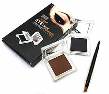 NYN TWO-TONE BLACK+BROWN WATER-SOLUBLE SMUDGE-PROOF EYELINER POWDER NO-80194