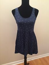 Roxy Beach Surf Dress Size Medium Navy Open Back