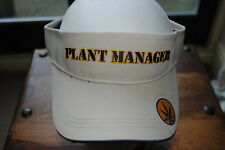 PLANT MANAGER EMBROIDERED LOGO SUN VISOR BNWT CANNIBIS LEAF WEED FUN PARTY JOKE