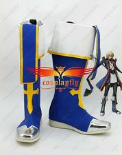 Anime Blazblue Jin Kisaragi Cosplay Shoes Boots Any Size Custom Made