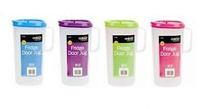 4x Set of 1.8L Plastic Fridge Door Jug Pitcher Container for Juice Water Milk