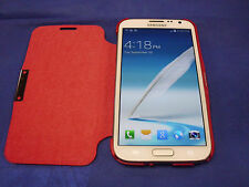 Galaxy Note 2 N7100 Magnet Flip Case Cover (RED)