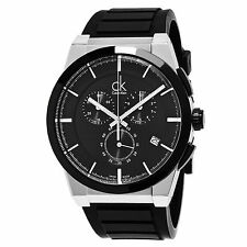 Calvin Klein Men's Dart Black Dial Chronograph Swiss Quartz Watch K2S37CD1